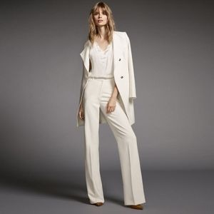 Ann Taylor 2 pc Off White Suit 100% Silk SZ 4P